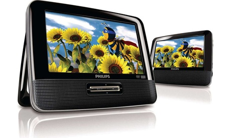 "Philips RBPD7012/37B REFURBISHED 7"" Dual Screen Portable DVD Player e5cbbe97-511e-48b4-95ac-1911b8d87fd2"