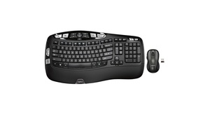 Logitech MK550 Wireless Wave Keyboard and Mouse Combo, Ergonomic Wave Design