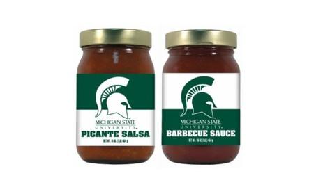 Hot Sauce Harrys 4724 MICHIGAN STATE Spartans Double Play BBQ Salsa b1961601-e1fd-4794-af7a-6cbe4399515d