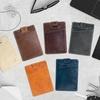 Front Pocket Slim Leather Wallet Card Holder with RFID Blocking