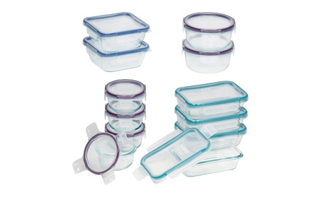 Snapware Total Solution Pyrex Glass Food Storage Set 24-Piece