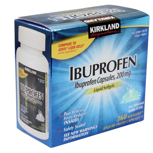 Kirkland Signature Ibuprofen 200 mg Liquid Softgels
