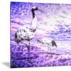 Storks Metal Wall Art 28x12