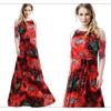 Women Plus Size Long Gown Round Neck Maxi Dress - TCWD398