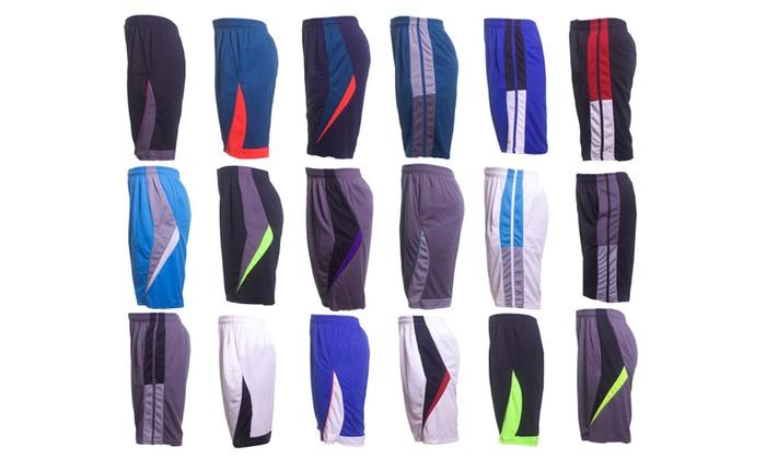 Men's Active Moisture-Wicking Mesh Shorts