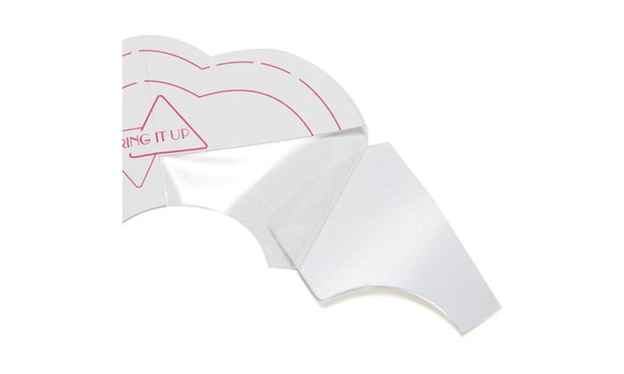 Up Bust Shaper Bra Strapless Nippleless Tape Adhesive 5 pairs