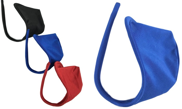 9d93a7fd791a 3 Pack Men's C string Bulge Enhancer Pouch Strapless Thong No Show Panty
