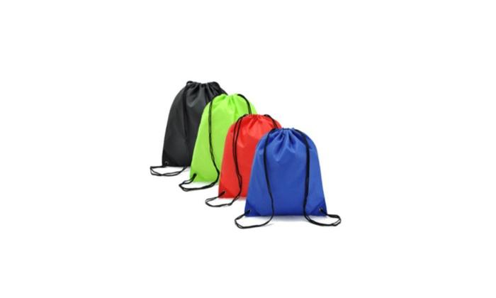 School Tote Gym Beach Waterproof Drawstring Cinch Sack Backpack