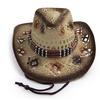 AccessHeadwear Old Stone Ava Women's Cowboy Drifter Style Hat, Brown