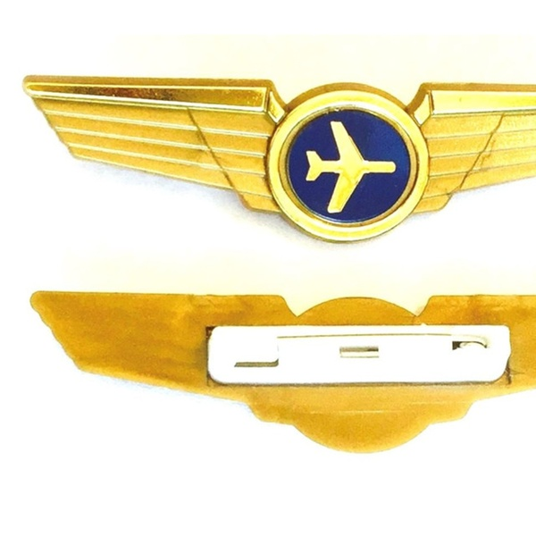 Kids Aviator Airplane Pilot Wings Plastic Pins Party Favor Badges