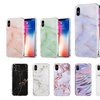 Soft Protective Cover with Marble Print for iPhone and Samsung