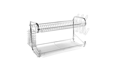 22-Inch Dish Drainer Rack 2 Layer Sink Storage Shelf f20f8610-2203-4fbc-a7bd-84a20f5dd6a2