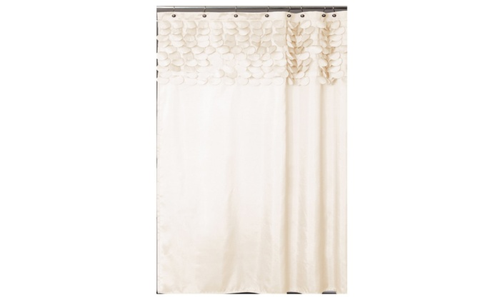 Lush Decor Lillian Shower Curtain 72 Inch By Beige