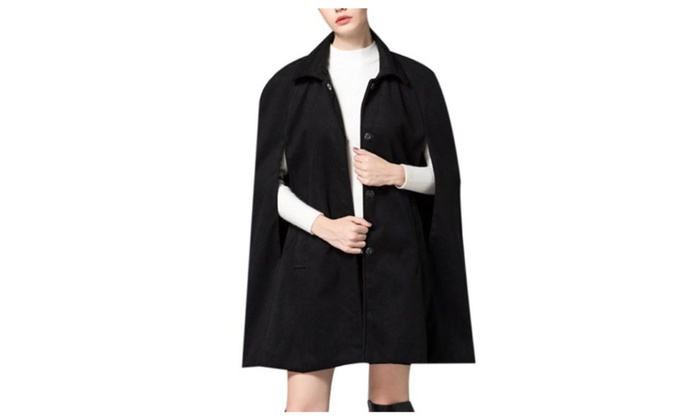 Women's Simple 1/2 Sleeve Casual Insulation Casual Wool Coat