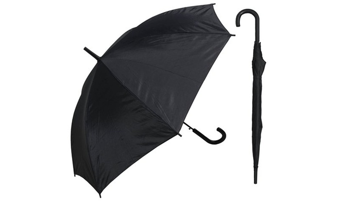 b0c0974dd4ca6 RainStoppers W032BLK 48 in. Auto Open Black Umbrella with Matching ...