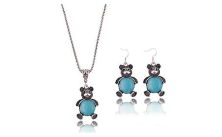 Turquoise Teddy Bear Set 924e89f7-8673-49c6-9121-afa627e20298