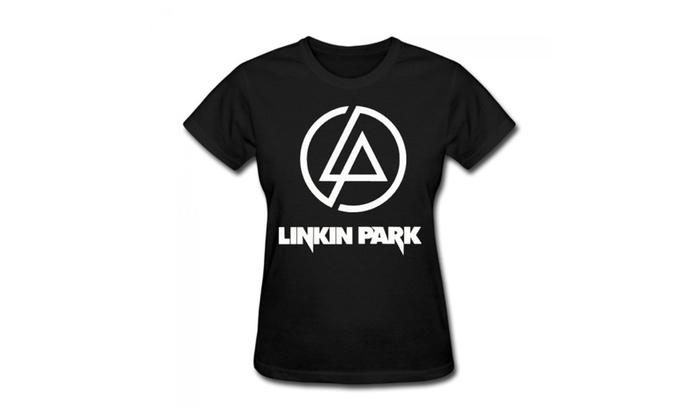 Kesidun: Chimpanzee Women's Linkin Park Crawling Rock Cotton T-shirt