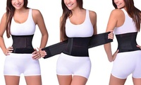 Extreme Fit Women's Double-Compression Waist Shaper (Black,Nude)
