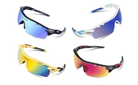 Unisex Polarized Sports Sunglasses with 5 Interchangeable Lenses 0d26b697-9bfa-4740-aa6b-e96d14680593