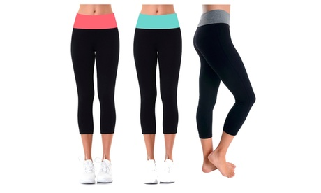 Ladies Capri Yoga Leggings d89a9089-6c8b-4e49-af33-7111e62050f3
