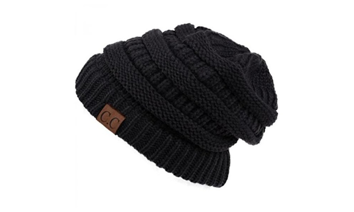 Charcoal Grey_New Super Cute Thick Cap Hat 100%AcrylicUnisex Winter hat warm (US Seller) - Charcoa...