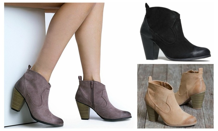 Western Slip-on Ankle Booties