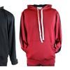 ZLCO Men's Stripe Pullover Athletic Fleece Hoodie Black Red