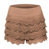 Women's Elastic Waist Crochet Lace Scallop Hem Mini Shorts SH4121