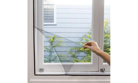 "2- Pack Self-adhesive Window Screen Netting Mesh Curtain (60"" X 50"") 873d4b55-127e-4934-a8df-d2793cc98874"
