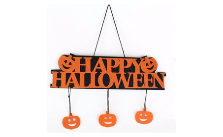 Halloween Wall Doorplate Hanging Sign Home Bar Haunted House Decor d00e758a-6991-44c9-a057-480053abb725