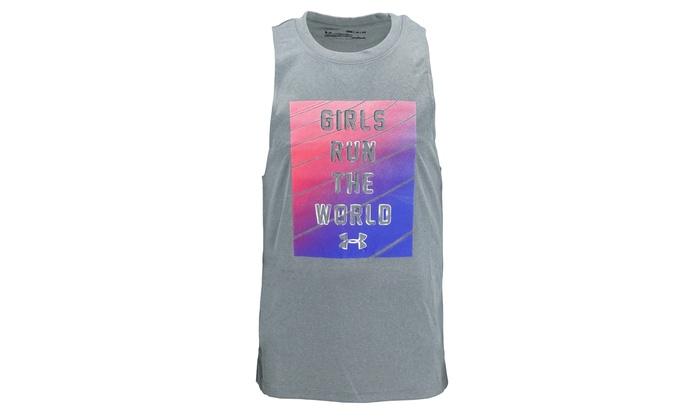 new style d711b 45e85 Under Armour Girls  Sleeveless Shirt Girls Run The World