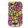 Insten Flower Hard Rhinestone Case For BlackBerry Curve 9360 - Colorful