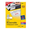 Avery 6460 Self-Adhesive Removable Laser I.D. Labels - White