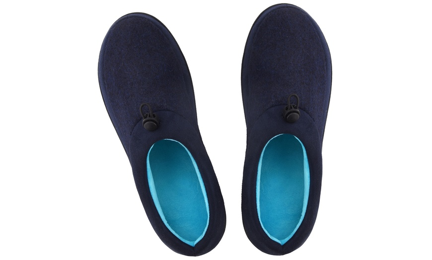 MENS NEW TOP QUALITY NAVY CORD FULL SLIPPERS HOUSE SHOE SIZE 7-11