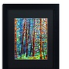 Mandy Budan 'In A Pine Forest' Matted Black Framed Art