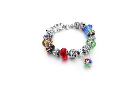 European Style Tibetan Silver Crystal Charm Bracelets for Women 59e63a83-f299-4335-bf2e-ba93a543102e