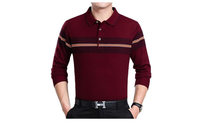 Men's Slim Fit Pullover Fashion Solid Casual Pullovers