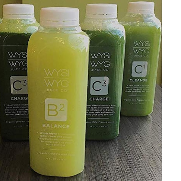 WYSIWYG Cold Pressed Juice Green Cleanse 16 oz Bottles 3-DAY