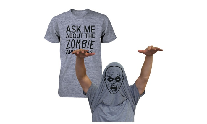 Ask Me About The Zombie Apocalypse Shirt Flip Up Tee Halloween T-shirt