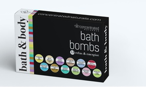 Concentrated Naturals Bath Bomb Gift Set (6-, or 12-Piece)