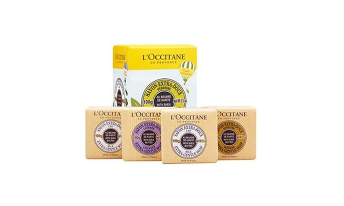 WeMakeBeauty: L'Occitane Travel Exclusive Soap Quartet With Shea Butter 4x3.5oz