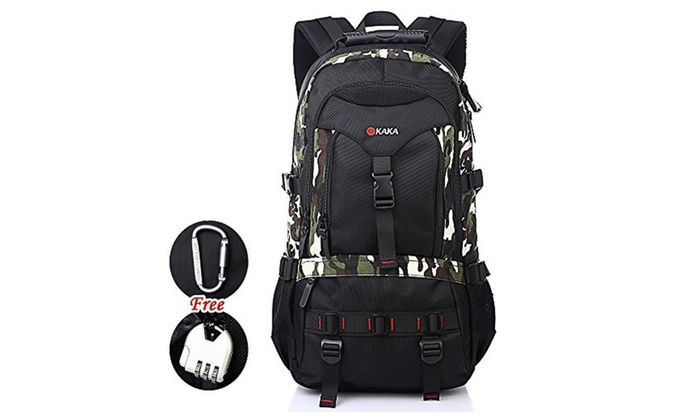 Waterproof Backpack Climbing Traveling Knapsack Bag 35L  - Camouflage / One Size