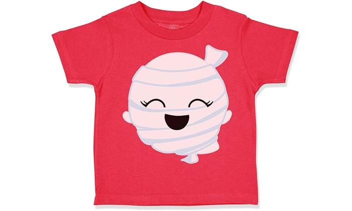 Custom Toddler T-Shirt Ghost Mummy Halloween Cotton Boy /& Girl Clothes