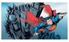 Clickhere2shop: Superman Chair Rail Prepasted Mural 6' x 10.5' - Ultra-strippable