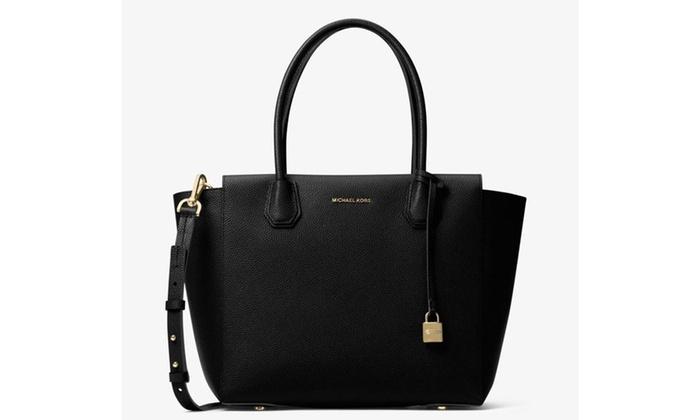 98e47bf720566 Michael Kors Mercer Large Leather Satchel - Black - 30H6GM9S3L-001 ...