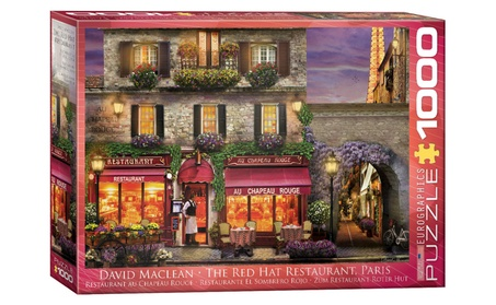 EuroGraphics Puzzles The Red Hat Restaurant, Paris by David McLean fb5f6350-f07d-488d-ae78-cd7e652f2163