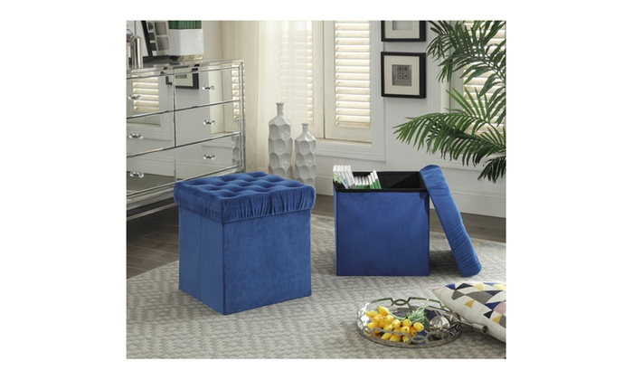Prime Up To 58 Off On Storage Ottoman Set 2 Pack Groupon Goods Pabps2019 Chair Design Images Pabps2019Com