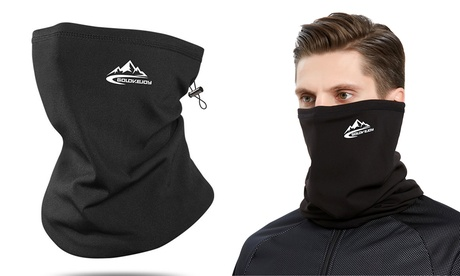 Neck Gaiter Drawstring Bandana Warmer Windproof Mask Fleece Face Mask Scarf