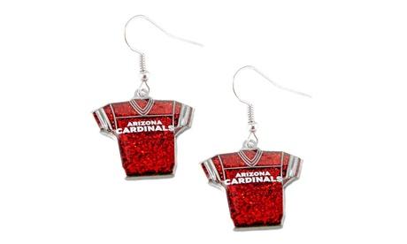 NFL Glitter Jersey Dangle Earrings