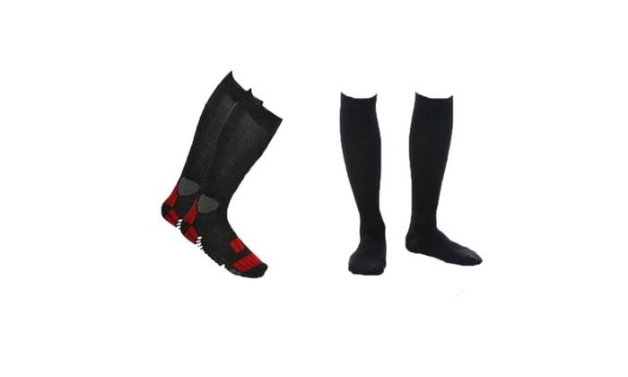 3-Pack Men's Gradual Compression Socks - 3 Colors